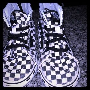 Checker ski-hi vans